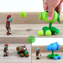 Camandetoy Plants vs Zombies Peashooter PVC Action Figure Model Toy Gifts Toys For Children High Quality Model Toy