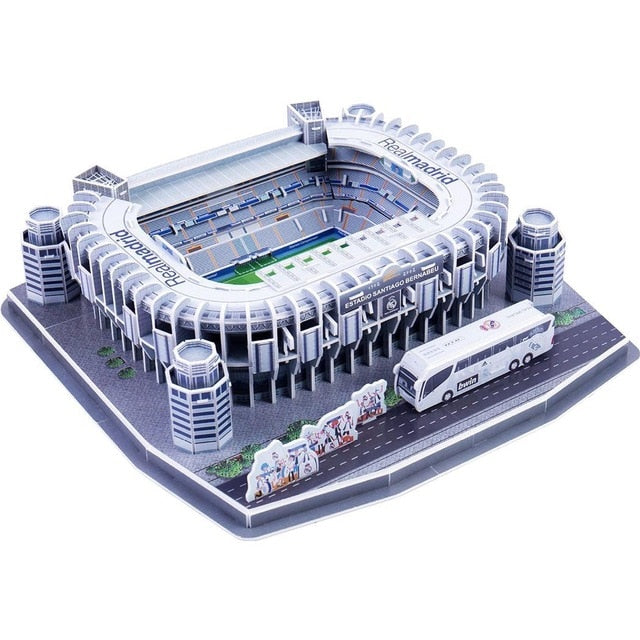 3D Puzzle European Soccer Club Venues JUV DIY Model Puzzle Toys Paper Building Stadium Football Soccer Assemble Game Gifts Set
