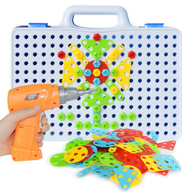 Electric Drill Screw Group Toy Nut Disassembly Match Puzzle Educational Toys Assembled Blocks Sets Design Building Toys for Boys