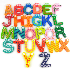 Wooden Number 0-9 A-Z Letter Alphabet  Magnet Educational Toy for Baby Kid  Learning Toys Gift