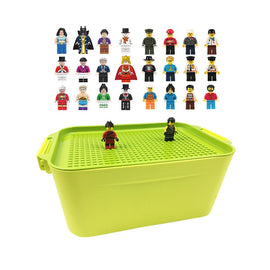100 City Compatible Building Blocks DIY Brinquedos Storage Box 2019 Boy Girl Toys Gifts Bricks Mini figures or not for Children