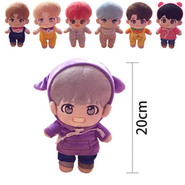 Camandetoy Doll Men's Idol Group Plush Toy Stuffed Doll With Clothes Fans Gift Collection For Girls Toys