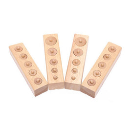 Montessori Educational wooden toy cylinder socket