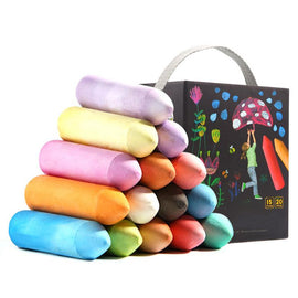 Chalk Dust-free Color Brush Child Safety Non-toxic Dust-free Color Chalk Outdoor Children's Big Chalk Exquisite Gift Baby Toys