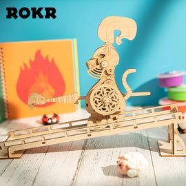 ROKR DIY Stress Relief Toys 3D Wooden Puzzle Novelty Gag Juguetes Assembly Model Toys for Children Kids LP401 for drop shipping