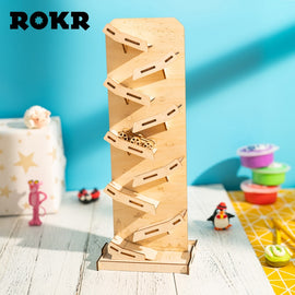 ROKR DIY Stress Relief Toys 3D Wooden Puzzle Juguetes Assembly Model Toys for Children Kids Novelty Gag Toys LP402 Drop shipping