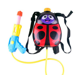 Funny Backpack Water Gun Toys Cute Ladybug and Little Bee Water Gun Toys For Kids Children  Summer Beach Play Toys