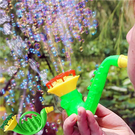 Random Color Water Blowing Toys Bubble Gun Soap Bubble Blower Outdoor Child Toys New Creative polyporous Wedding Machine