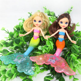 Waterproof Swimming Mermaid Doll Kid Girls Toy Bath Swimming pool 20cm High with Comb Gift for Children Girls