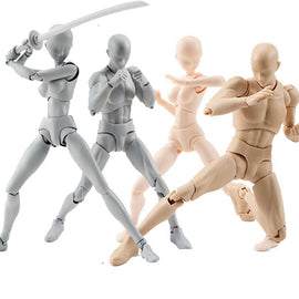 Multi-joint movable Figures SHFiguarts BODY KUN / BODY CHAN Grey / Orange Color Ver PVC Action Figure Collectible Model Toy