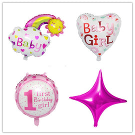 Taoqueen Baby 1st Birthday balloons set pink Blue birthday decorations kids balloons party supplies Cartoon Hats