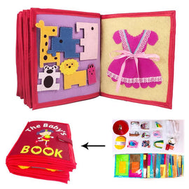 Baby 3D DIY Cloth Book Non-Woven Early Learning Educational Toy Picture Book Manual Book for Infant Kids Early Education Books
