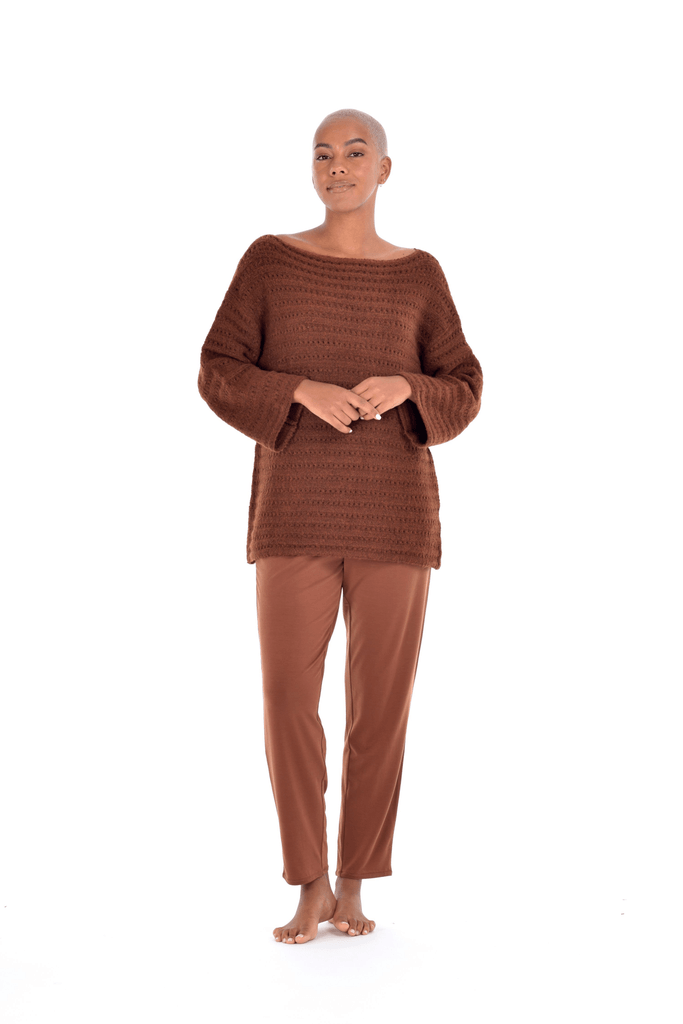 Canyon Knit Tunic - Hazelnut, Sea Salt