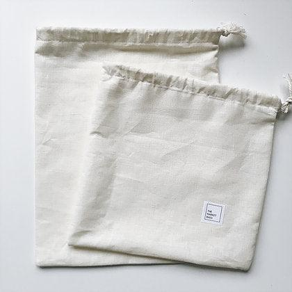 The Market Bags - HEMP - Produce / Bulk / Snack Bag - Set of 2