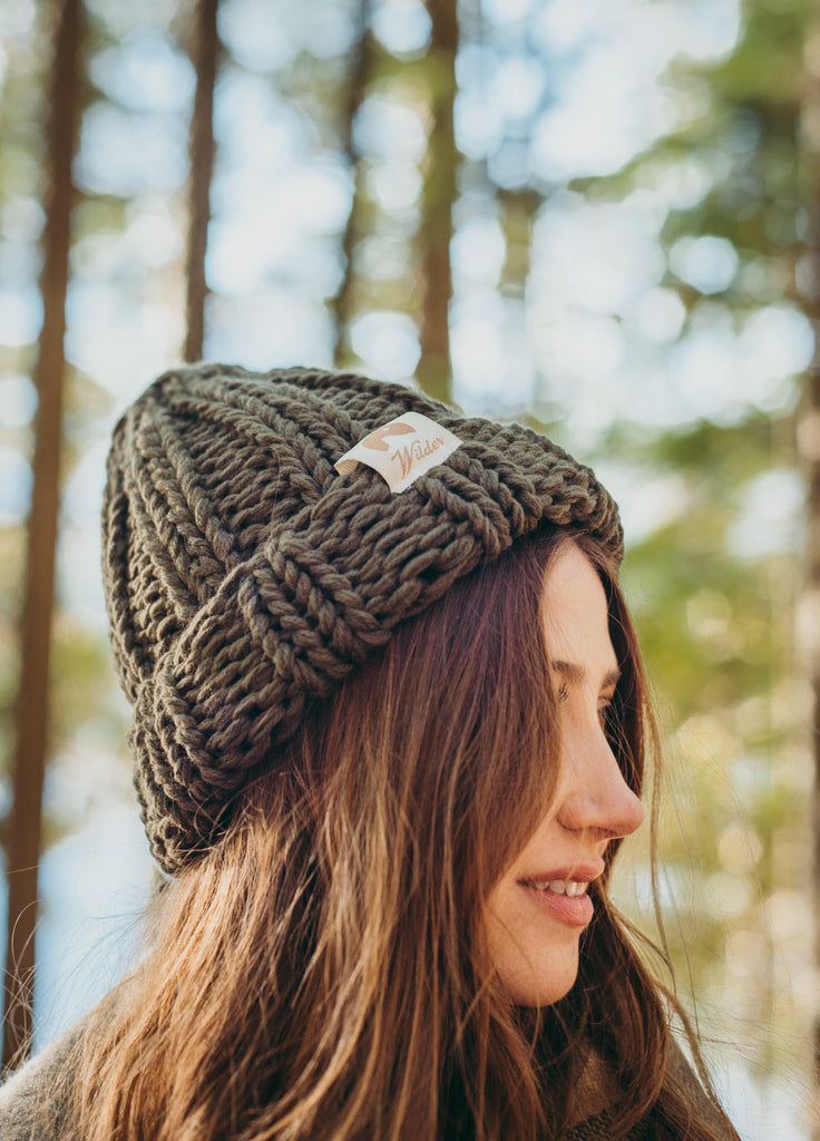 Wilder Collection - Basecamp Beanie - Yam, Olive, Black