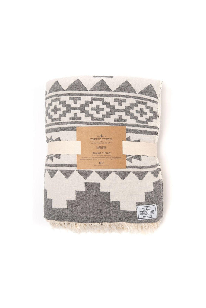 Beachcomber Fleece Throw - Pewter, Granite Grey