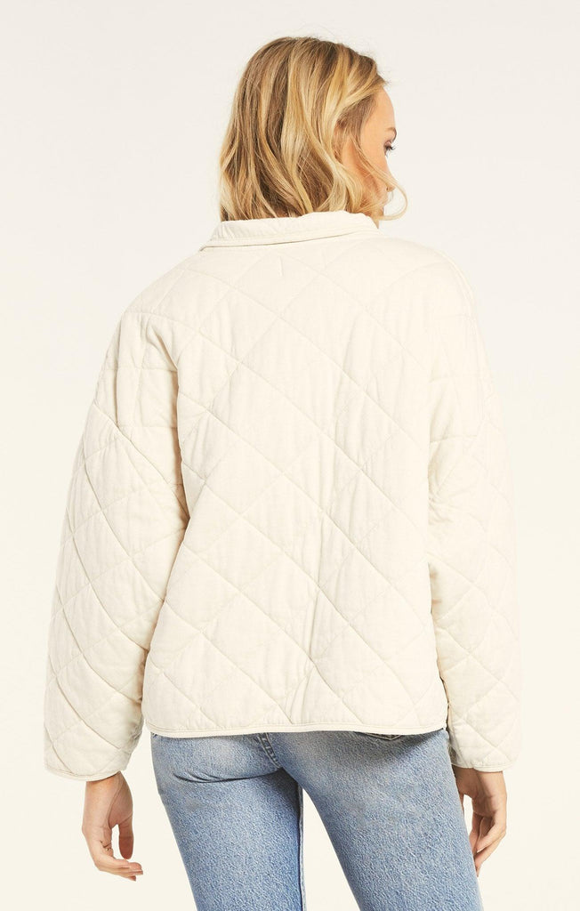 Maya Quilted Jacket - Bone