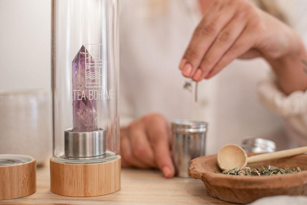 Tea Boheme - Amethyst Crystal Tea & Water Bottle