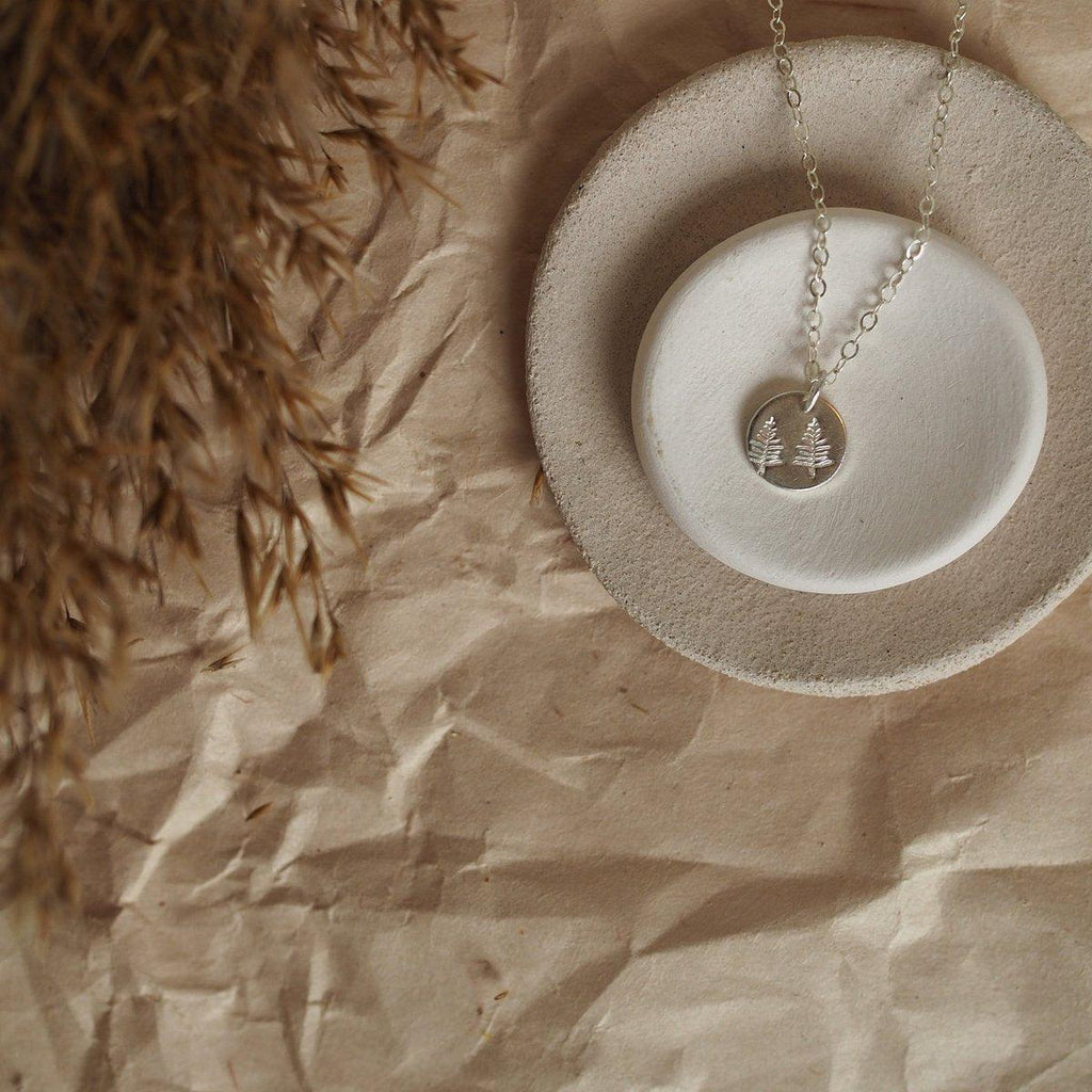 Forest Charm Necklace - Gold, Sterling Silver