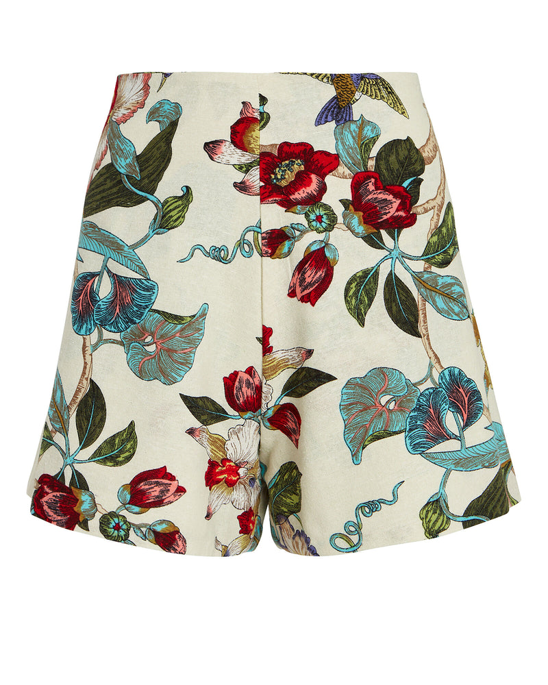 CATALINA SHORTS - NATURAL FLORAL