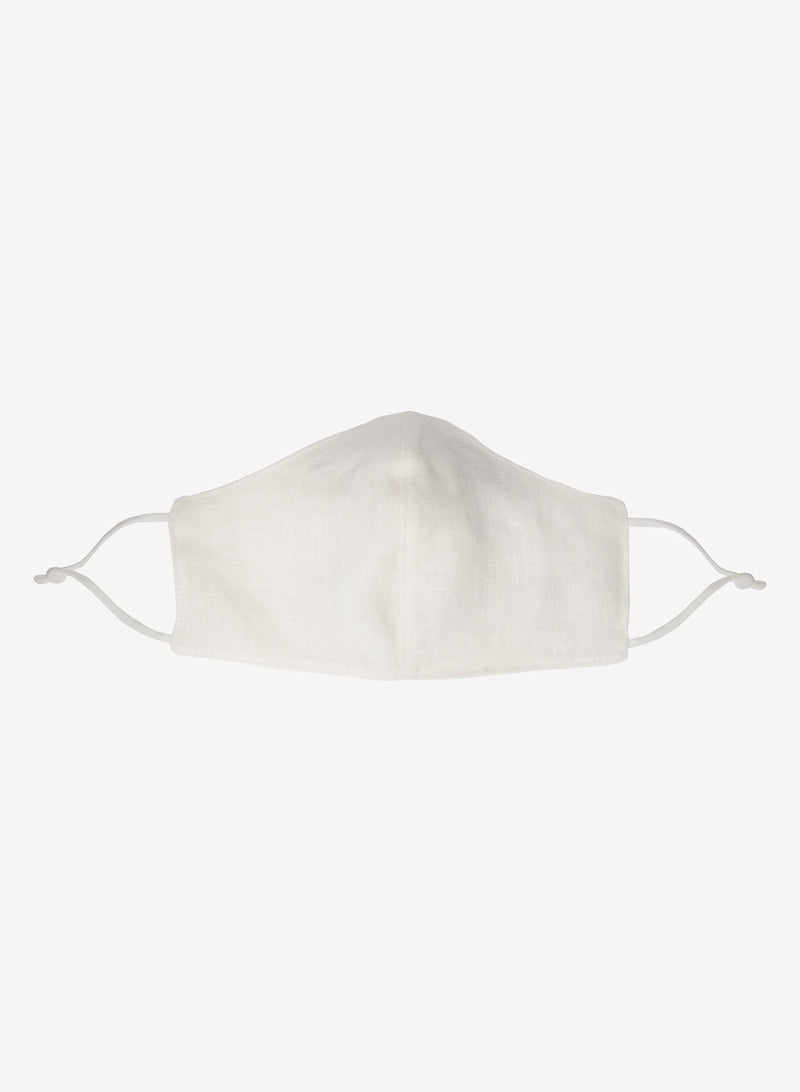 Ecru Linen Face Mask