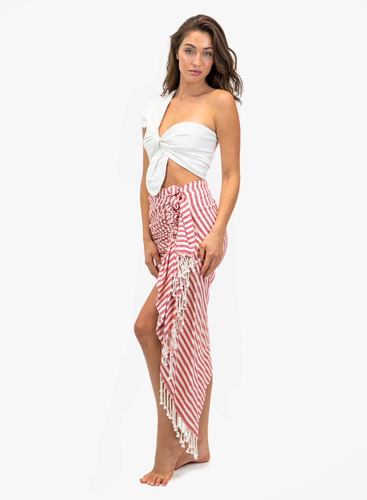 TULUM STRIPE - RED