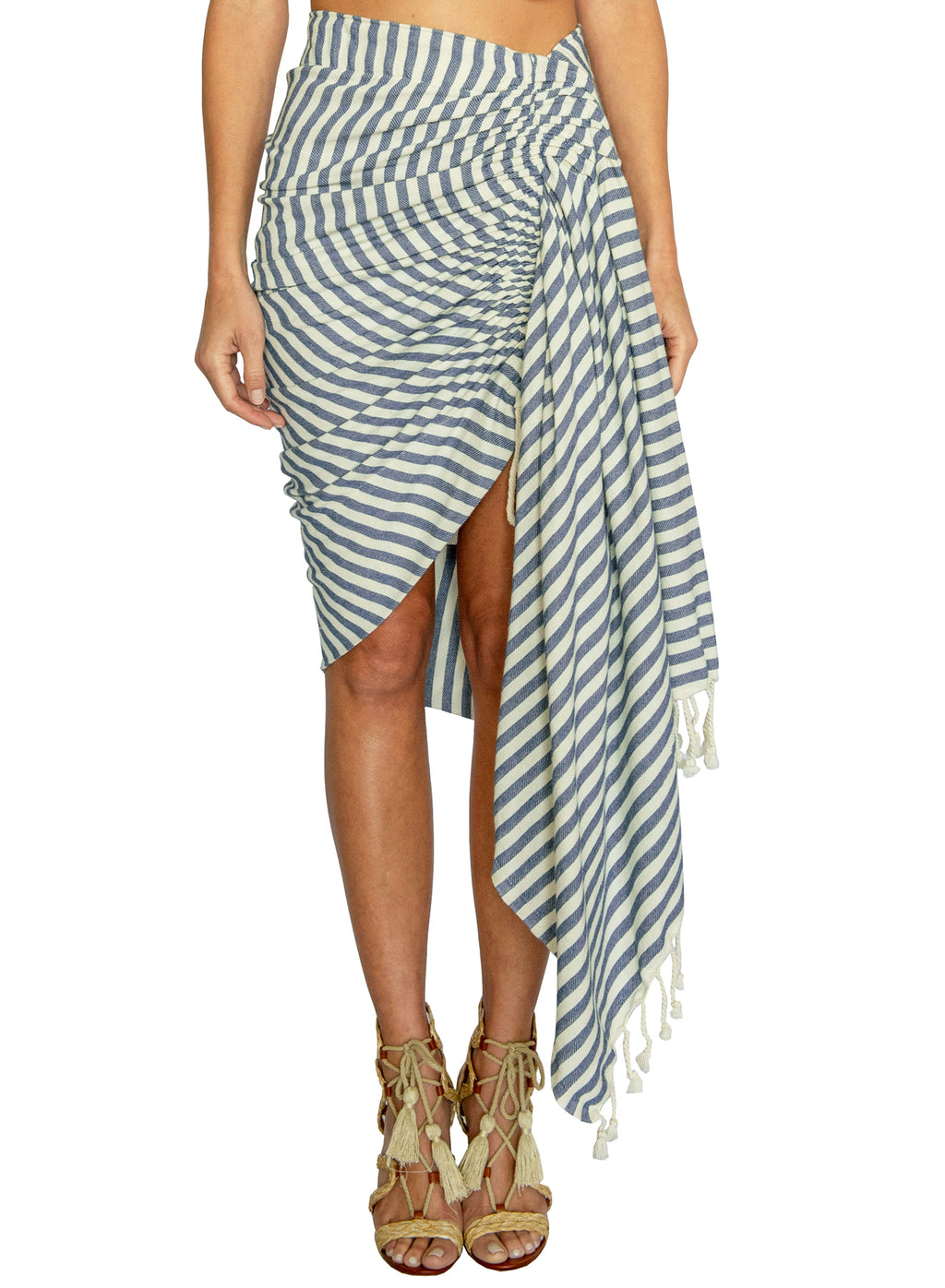 TULUM STRIPE-ROPE - DENIM