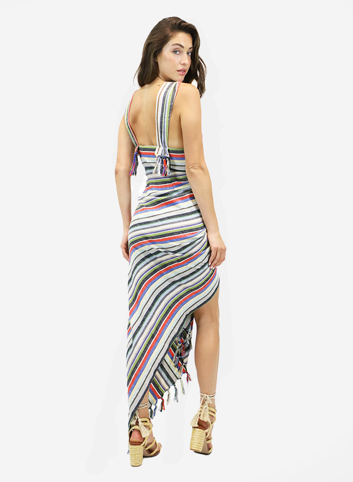 TULUM DRESS BRIGHT STRIPE
