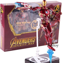 Load image into Gallery viewer, SHF Figuarts Iron Man MK50 & Tamashi Stage PVC Marvel Avengers Infinity War Action Figure Iron Man Mark 50 Collectible Model Toy