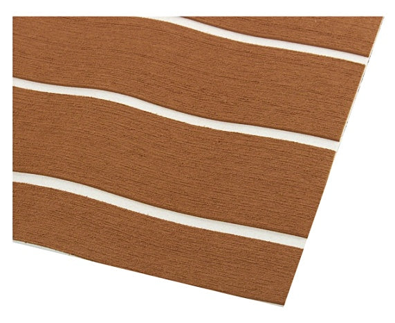 Ready™2400x900x6mm Large Light Brown Faux Teak Boat Flooring Foam