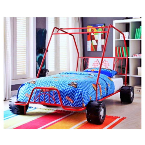 Ready™Red Race Car Twin Bed Toddler Race Car Bed For Kids Car Bed