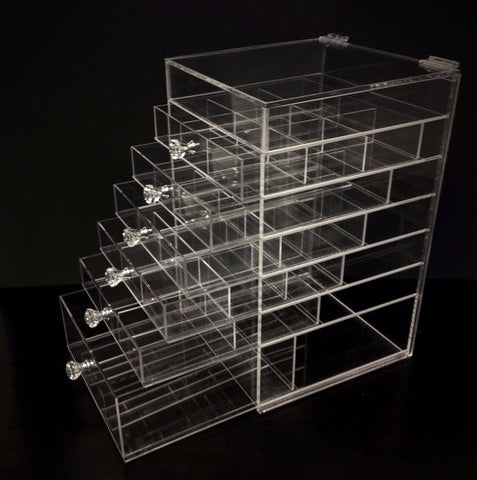 Diamond Handle Acrylic Makeup Organizer