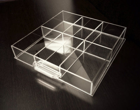 Six-Compartment Acrylic Dividers for Makeup Organizer