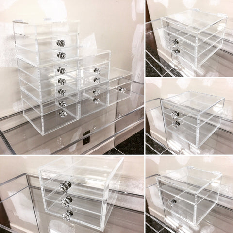 NEW! Stackable Acrylic Makeup Organizer