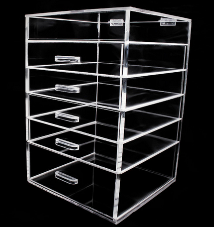 Awesome Acrylic Makeup Organizer With 5, 6, Or 7 Drawers