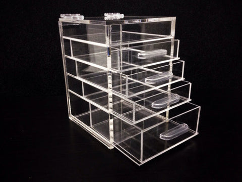Cutie Cube - Clear Organizer - Acrylic Storage Cube Box with Drawers