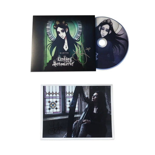 Signed Martyr CD and Harp Poster Bundle