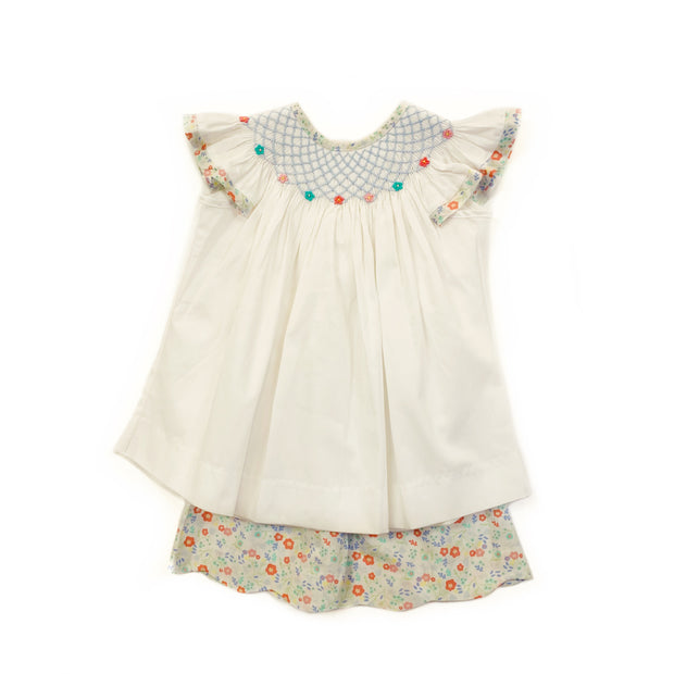 FLORAL SMOCKED SHORT SET