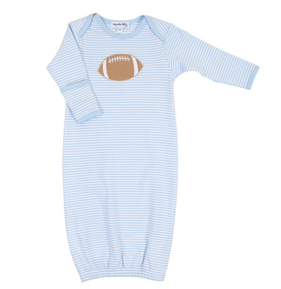 BLUE STRIPE FOOTBALL GOWN