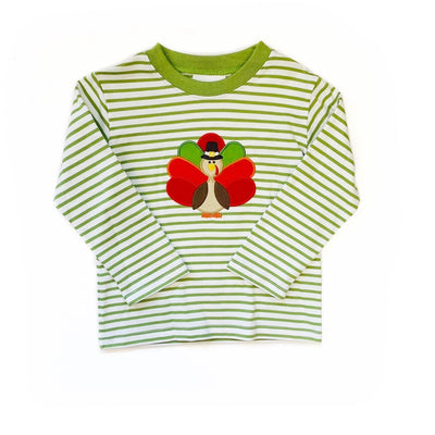 SAGE GREEN STRIPE TURKEY TEE