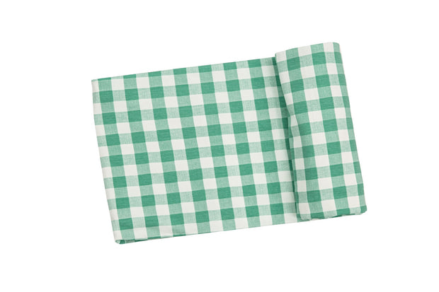 GREEN GINGHAM SWADDLE