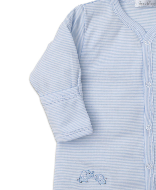 BABY TRUNKS CONVERTIBLE GOWN IN BLUE