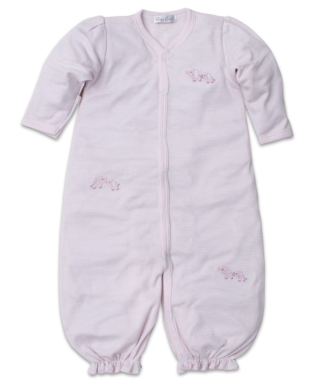 BABY TRUNKS CONVERTIBLE GOWN IN PINK