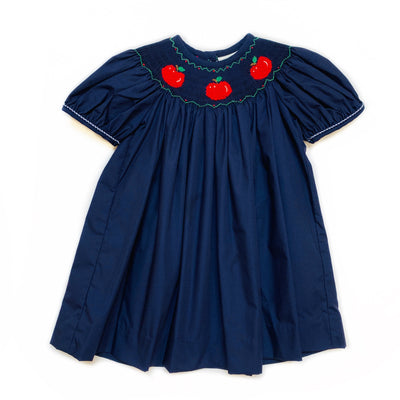 SMOCKED APPLE BISHOP DRESS