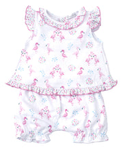 FLOWERING FLAMINGOS SUNSUIT
