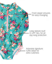 FANCY ME FLORAL RUFFLE ZIPPER ONE PIECE