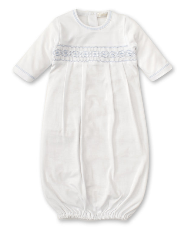 KISSY KISSY SUMMER SACK W. HAND SMOCKING , WHITE/BLUE