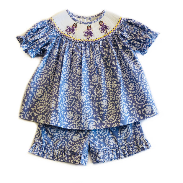 SOPHIA SMOCKED SHORT SET