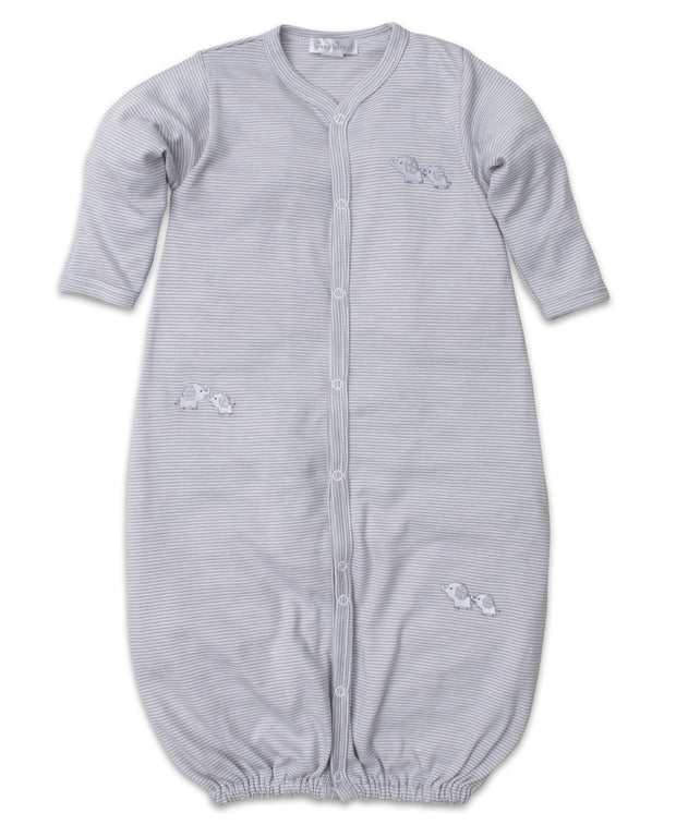 BABY TRUNKS CONVERTIBLE GOWN - GREY