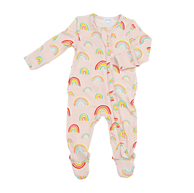 RAINBOWS RUFFLE ZIPPER FOOTIE